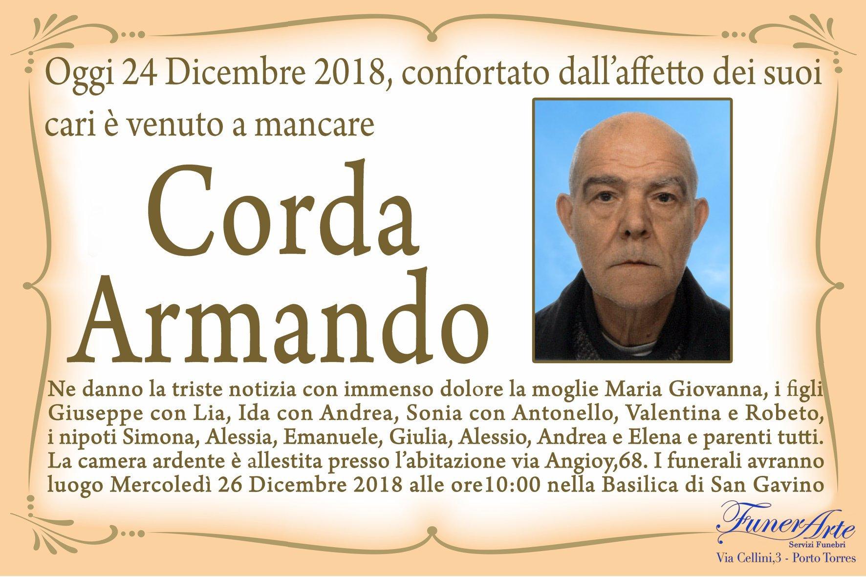 Corda Armando Necrologia