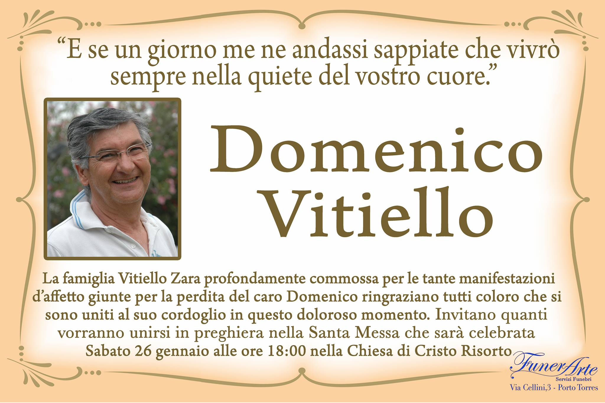 Domenico Vitiello Necrologia