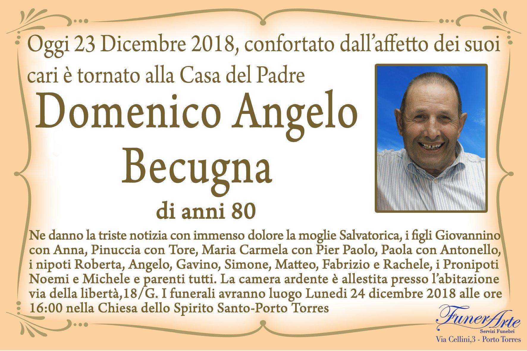 Domenico Angelo Becugna necrologia
