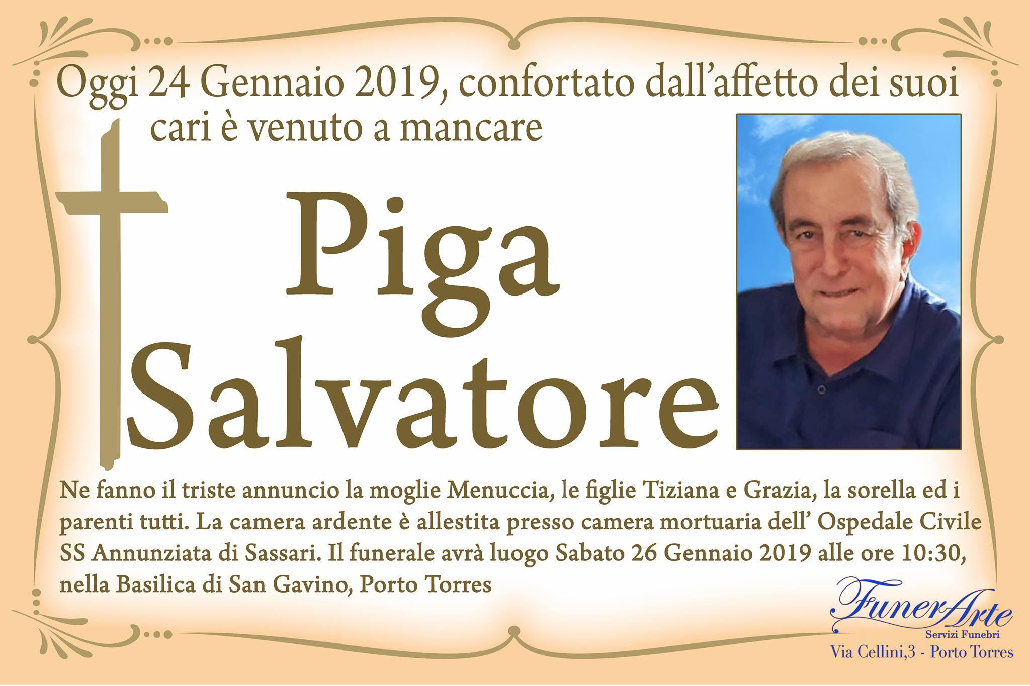 Piga Salvatore Necrologia