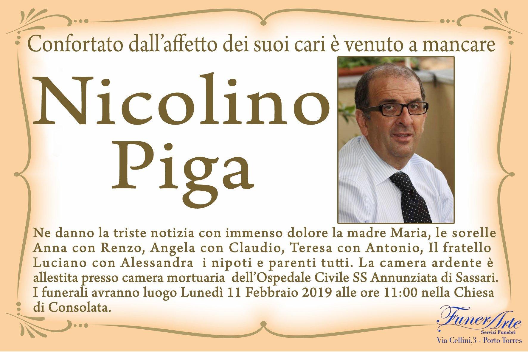 Nicolino Piga Necrologia